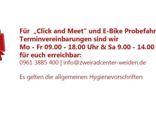"""""""Click and Meet"""" weiterhin möglich !"""